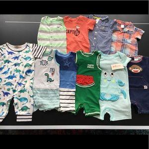 Eleven baby boy Rompers